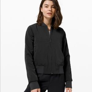 LULULEMON Serene travels bomber jacket